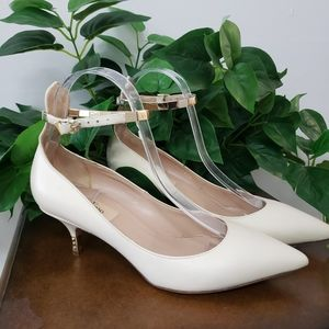 Valentino spiked heel ankle strap shoe pump